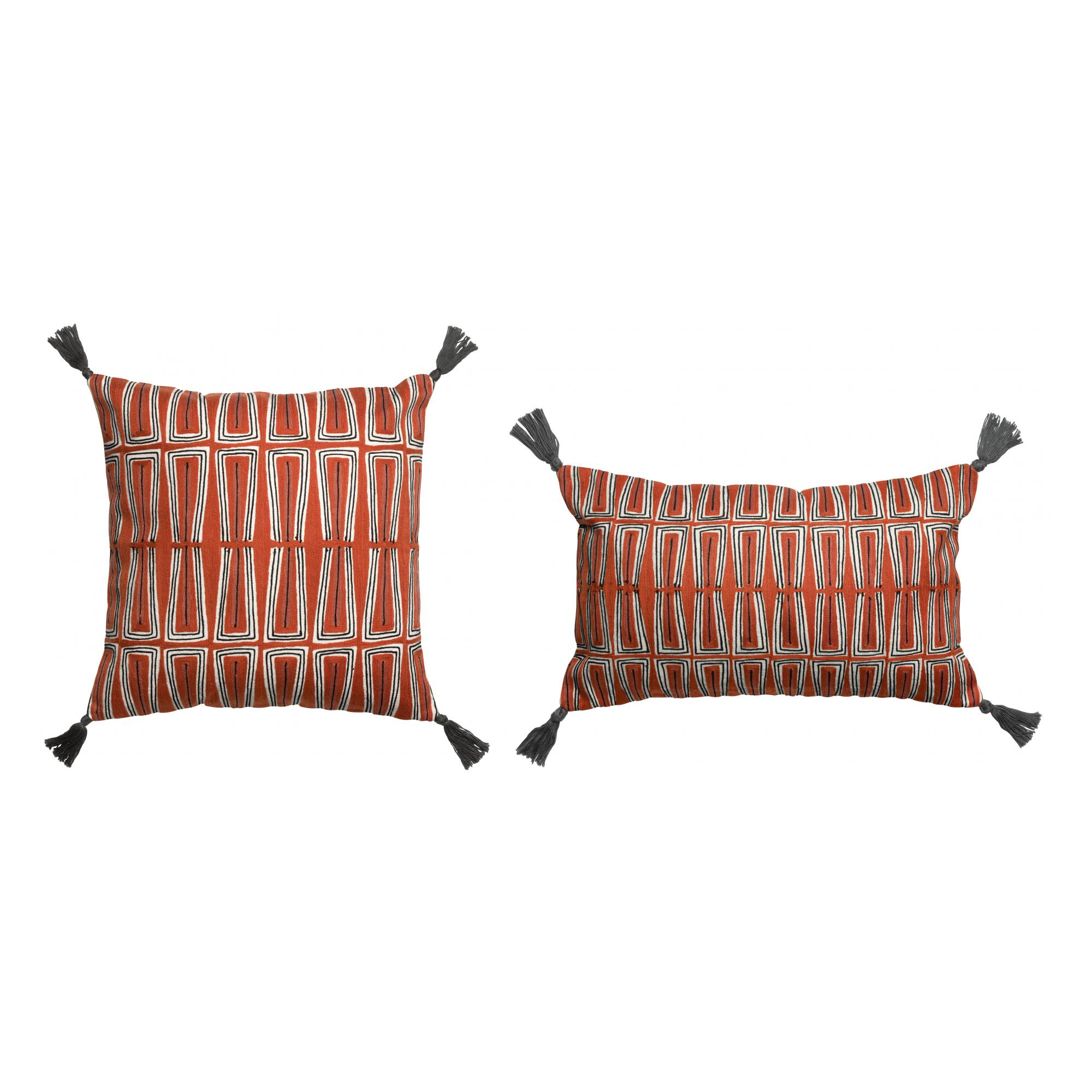Coussin Kenza brodé Rooibos