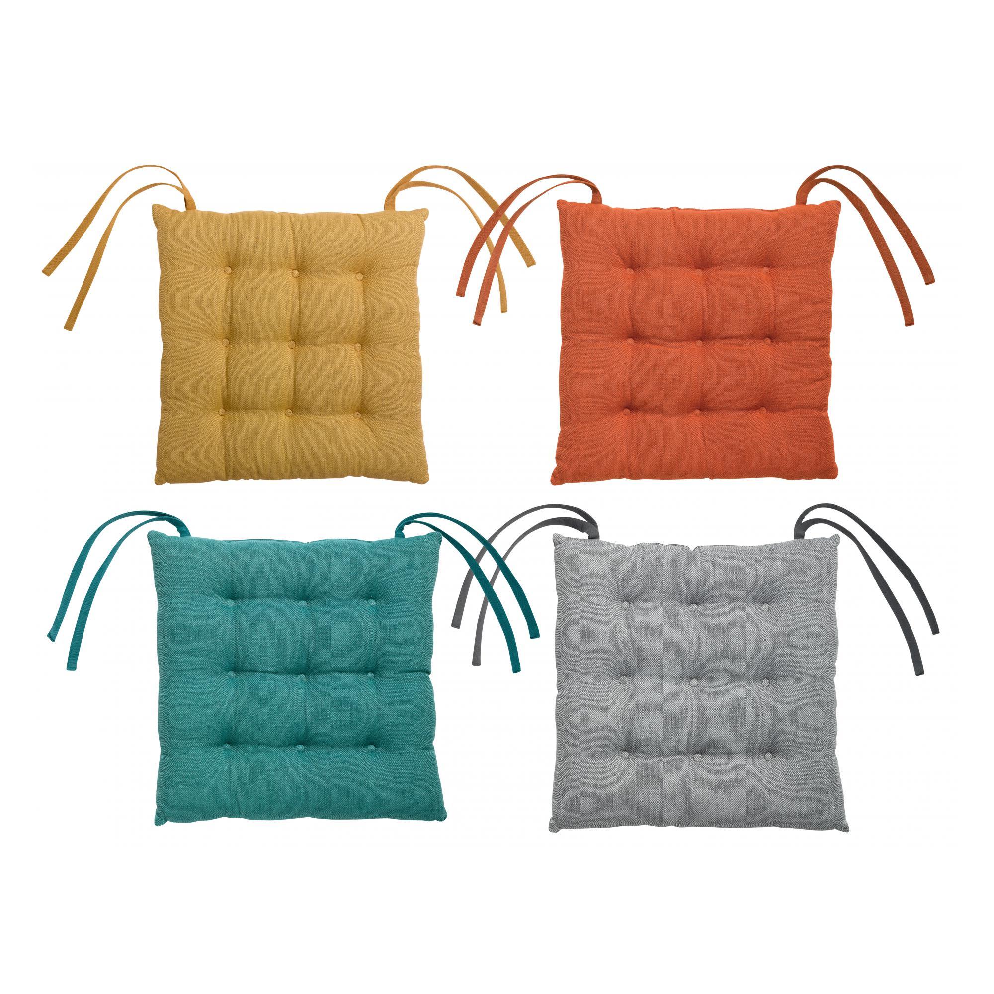 Galette de chaise piquée 9 points Maza 38 x 38 x 4 cm