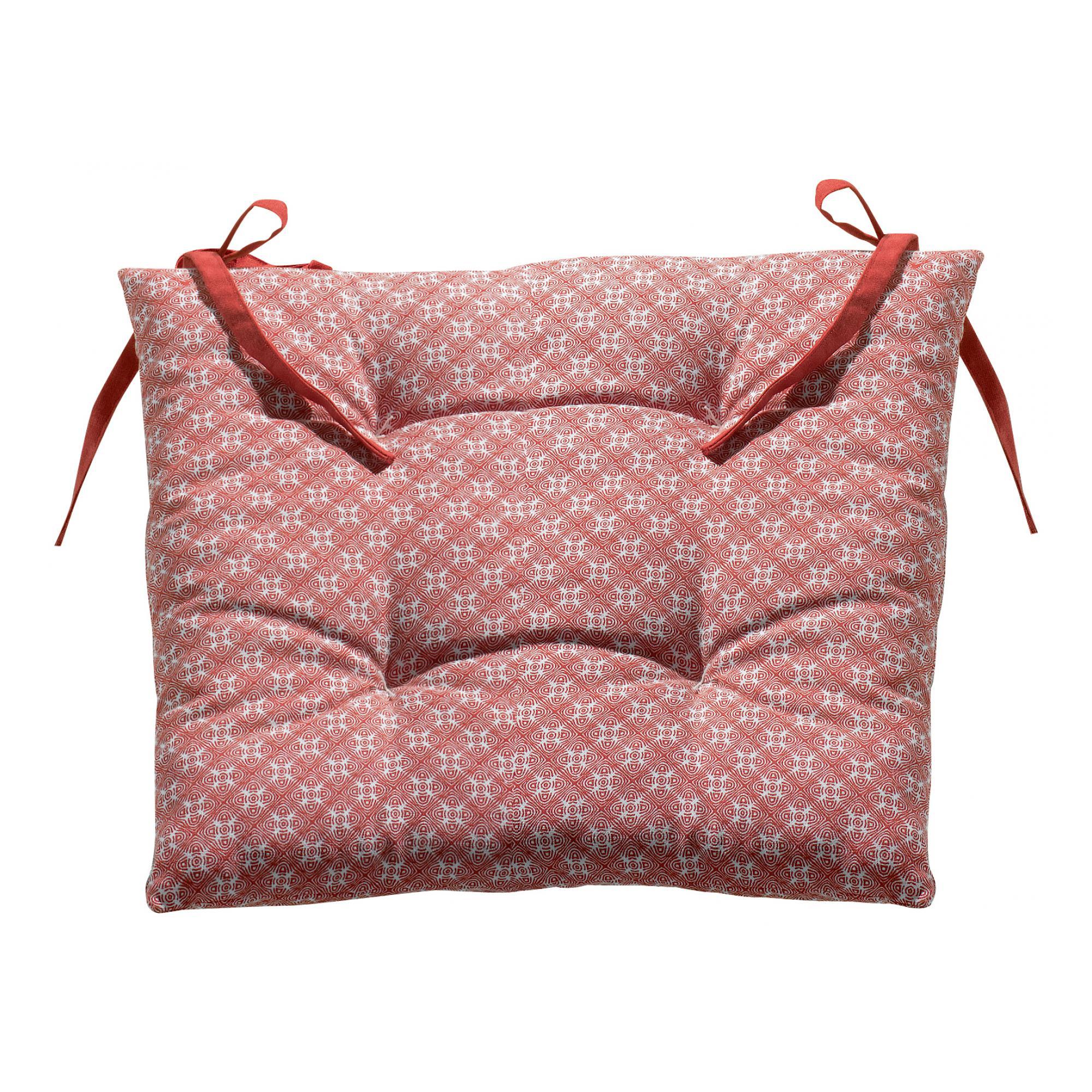 Galette de chaise Kilka Sangria 38 x 38 x 3