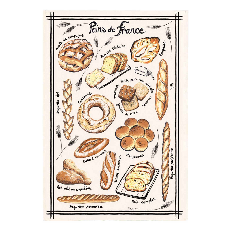 Torchon Pains de France Ecru