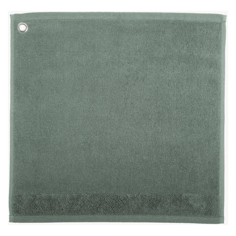 Essuie-mains Oeillet Curl Vert de gris 50 x 50