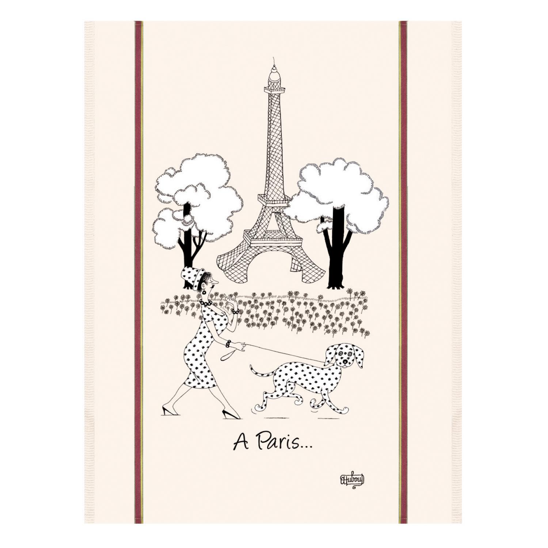 Torchon Dubout Mode de Paris Ecru 60 x 80