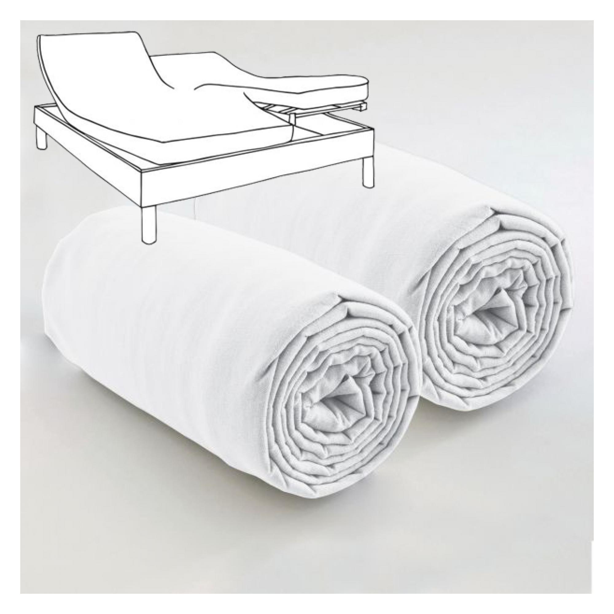 Double drap housse spécial matelas double Blanc 80 x 200 x 35