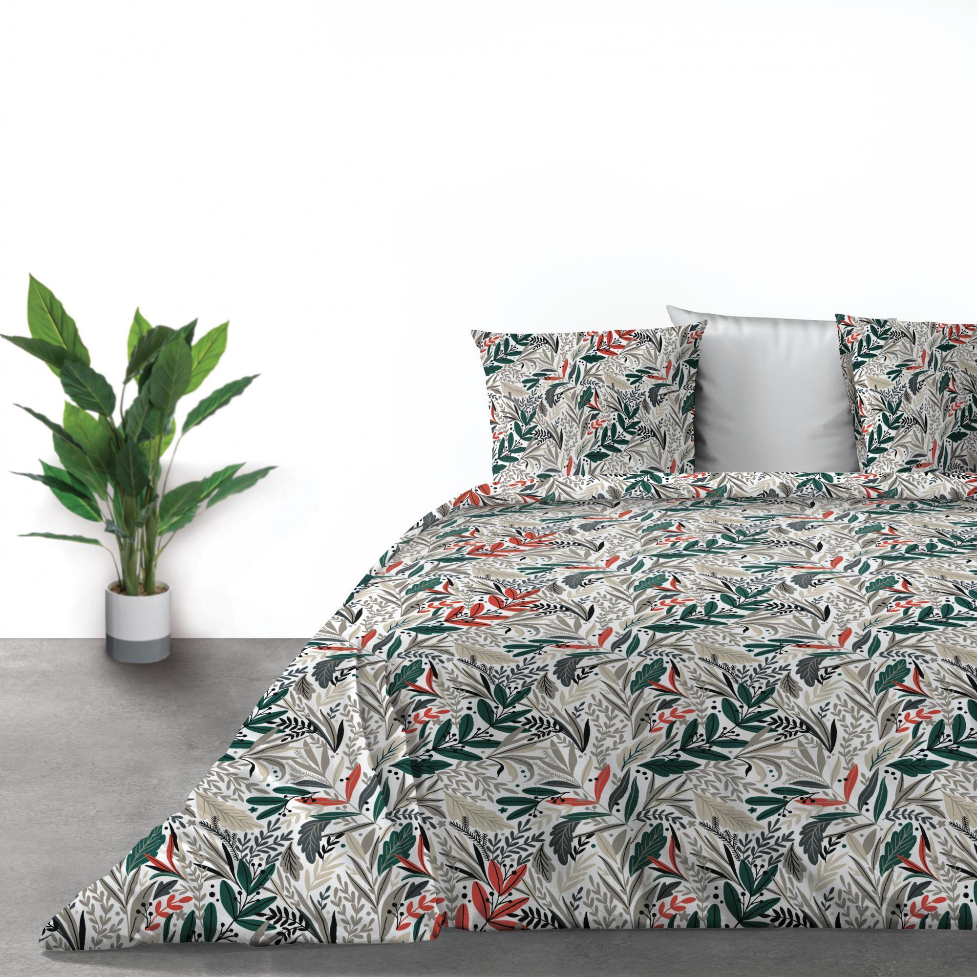 Parure de lit 2 personnes Luziola avec housse de couette et taies d'oreiller imprimé 240 x 260