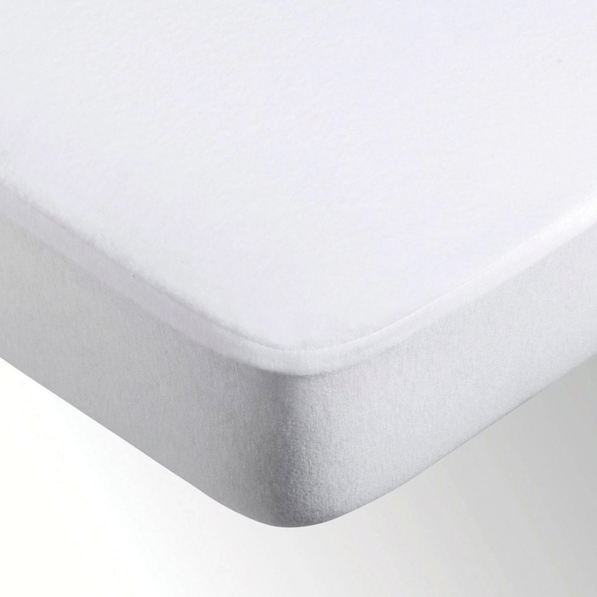 Protège-matelas Microfibre enduit Blanc 180 x 200 x 25
