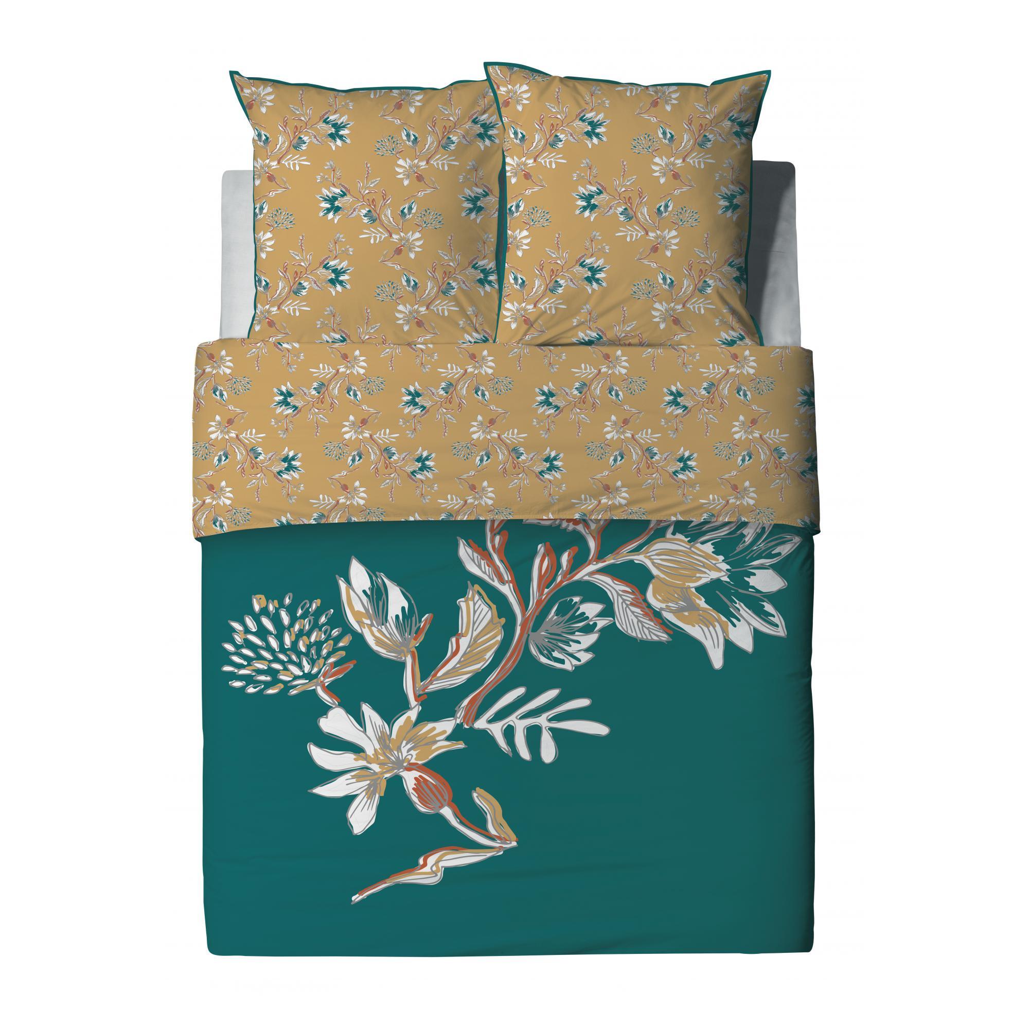 Parure de lit 2 personnes Motueka avec housse de couette et taies d'oreiller Imprimé 240 x 220