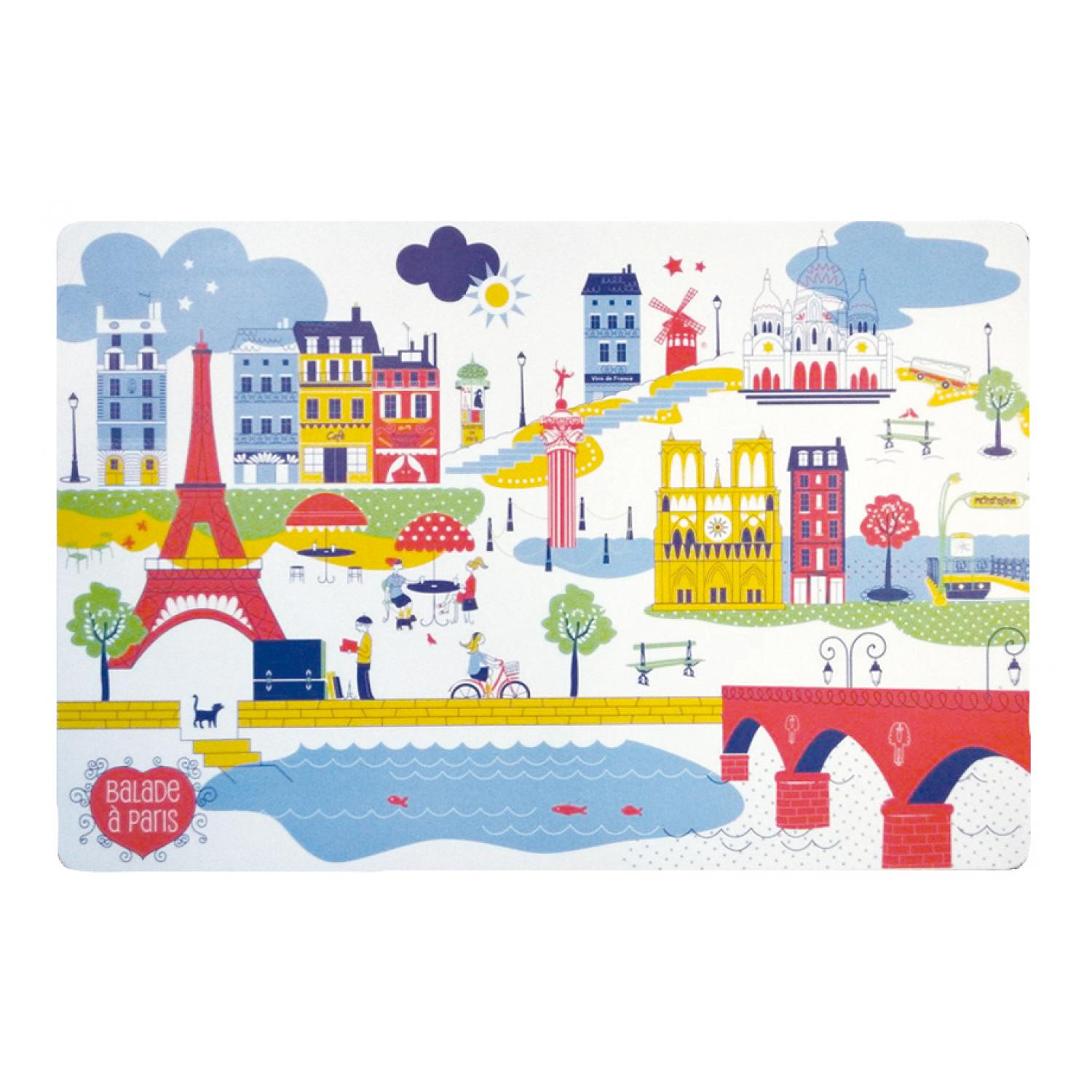 Set de table Balade à Paris Assortis 30 x 45