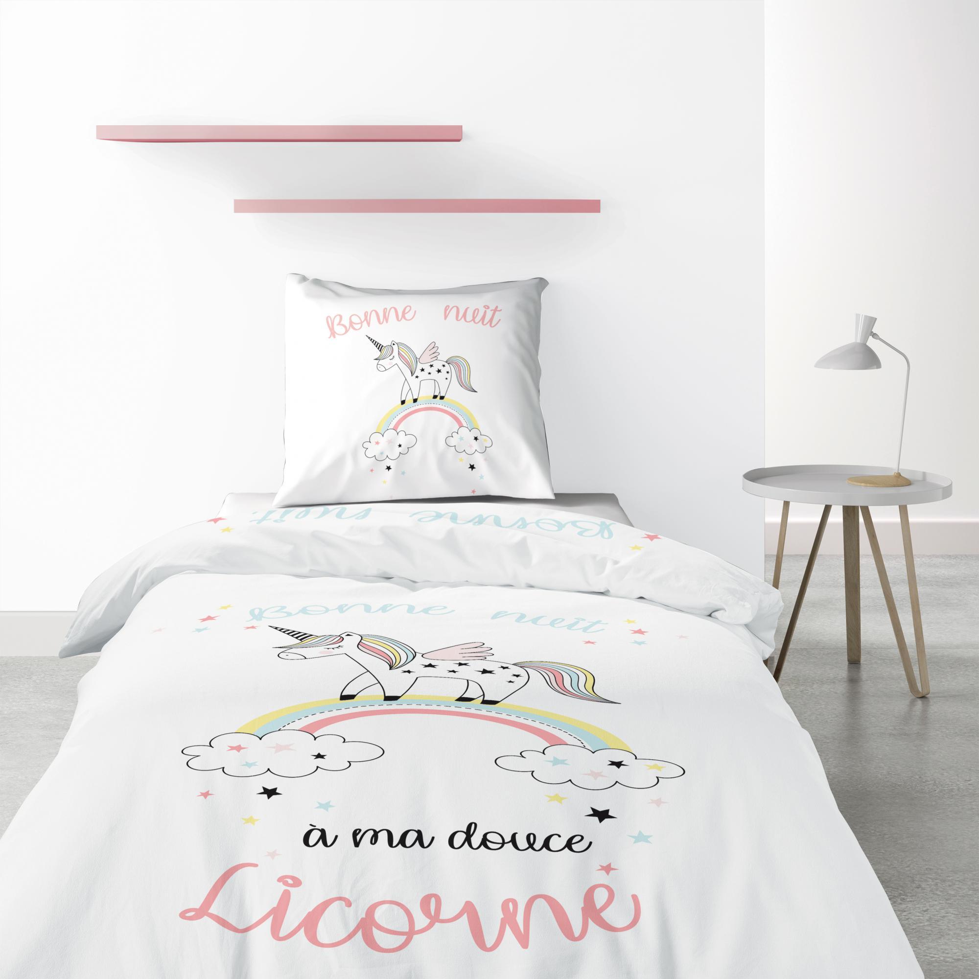 Parure de lit 1 personne Majesty avec housse de couette et taie d'oreiller Imprimé 140 x 200