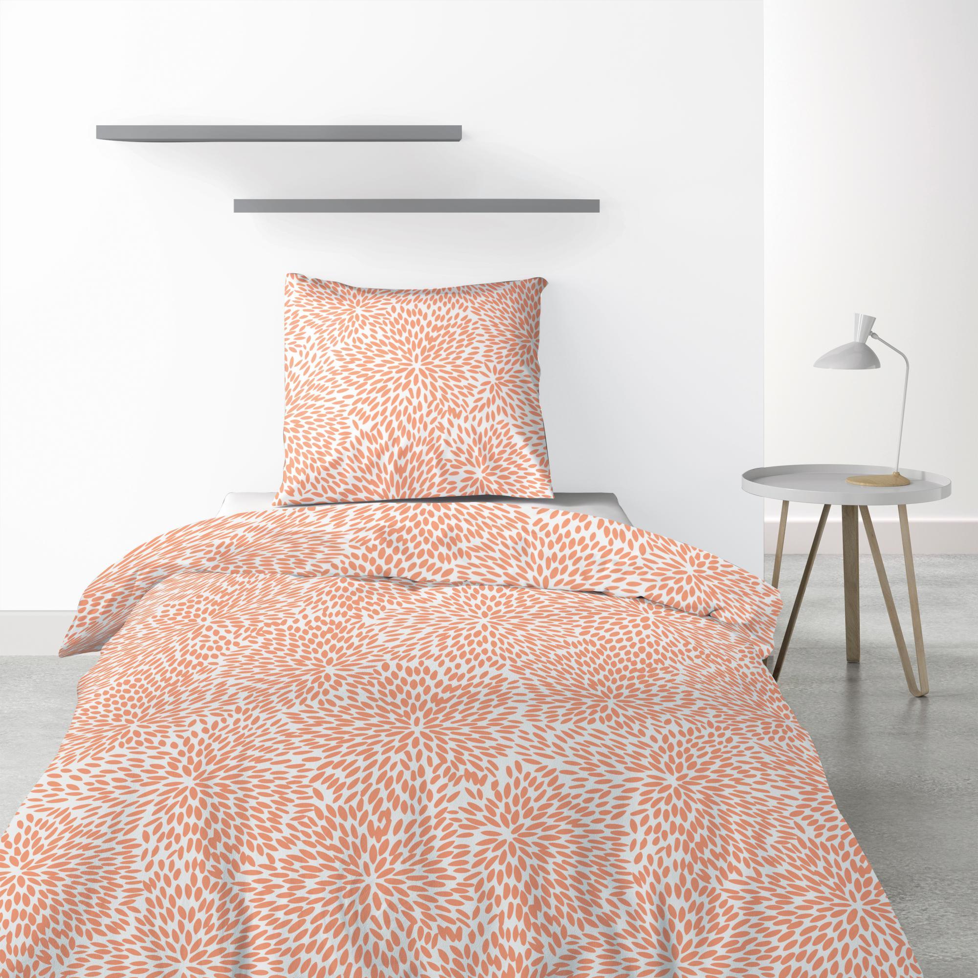 Parure de lit 1 personne Lantana avec housse de couette et taie d'oreiller Imprimé 140 x 200