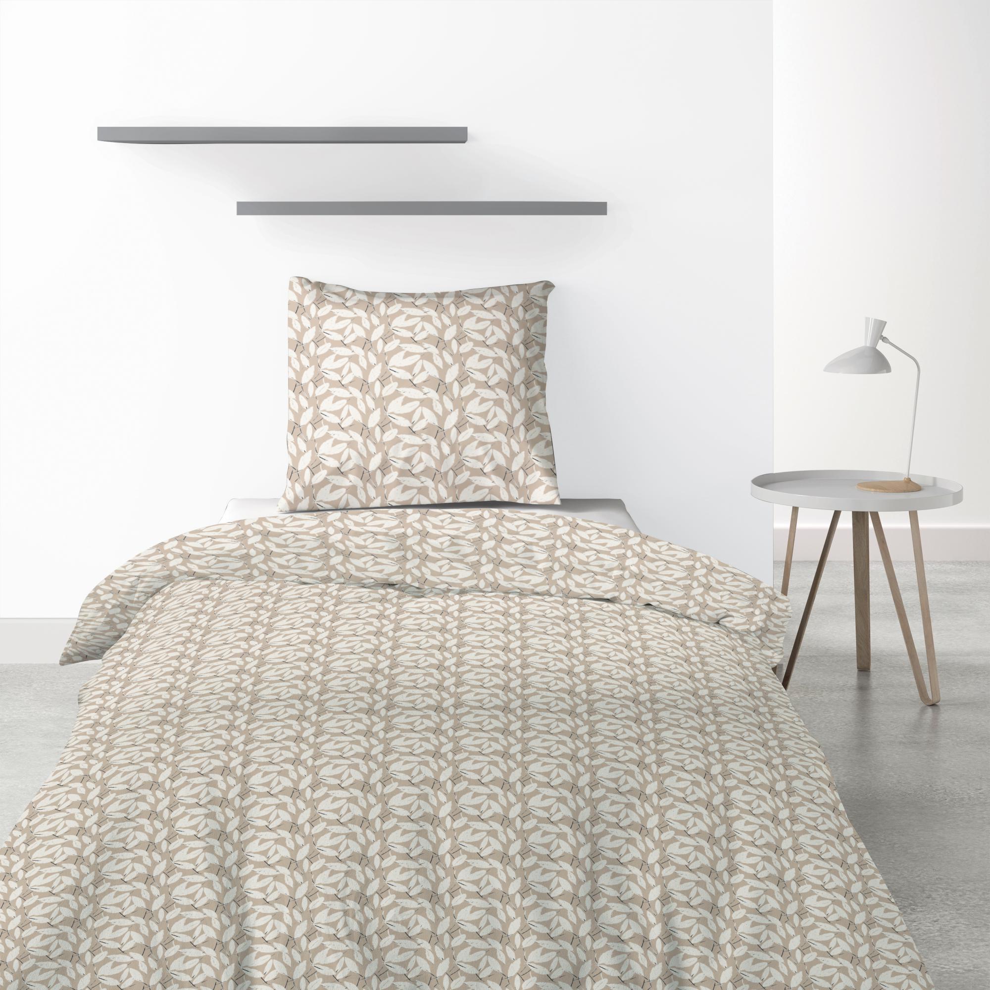 Parure de lit 1 personne Carmel avec housse de couette et taie d'oreiller Imprimé 140 x 200