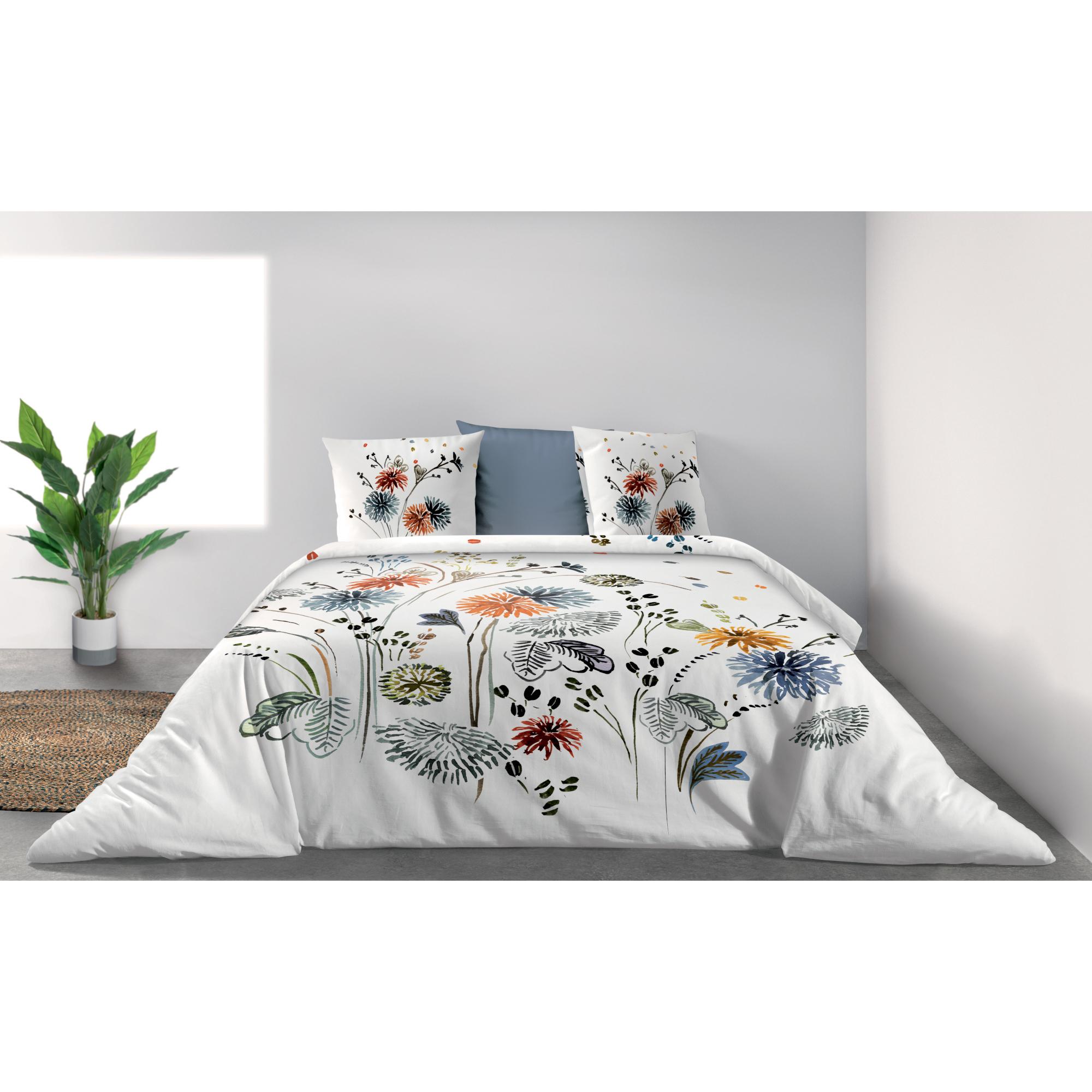 Parure de lit Bio 2 personnes Champêtre avec housse de couette et taies d'oreiller Imprimé 240 x 220