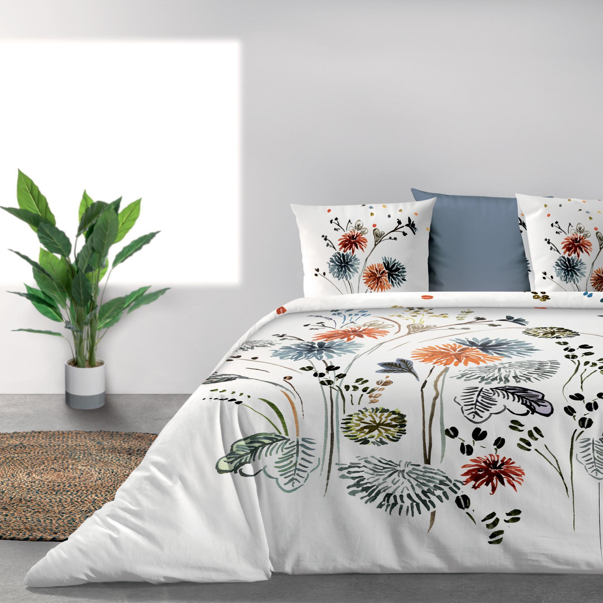 Parure de lit Bio 2 personnes Champêtre avec housse de couette et taies d'oreiller Imprimé 260 x 240