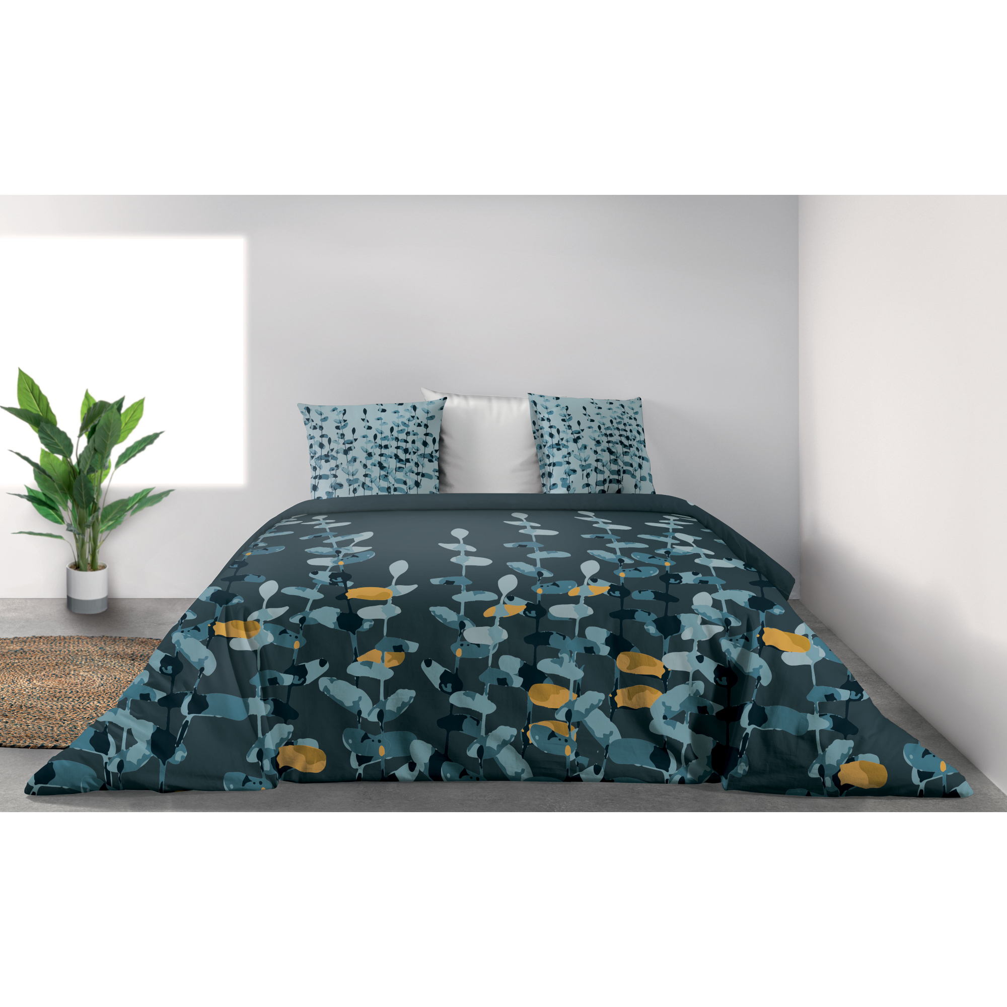 Parure de lit Bio 2 personnes Lunaria avec housse de couette et taies d'oreiller Imprimé 260 x 240