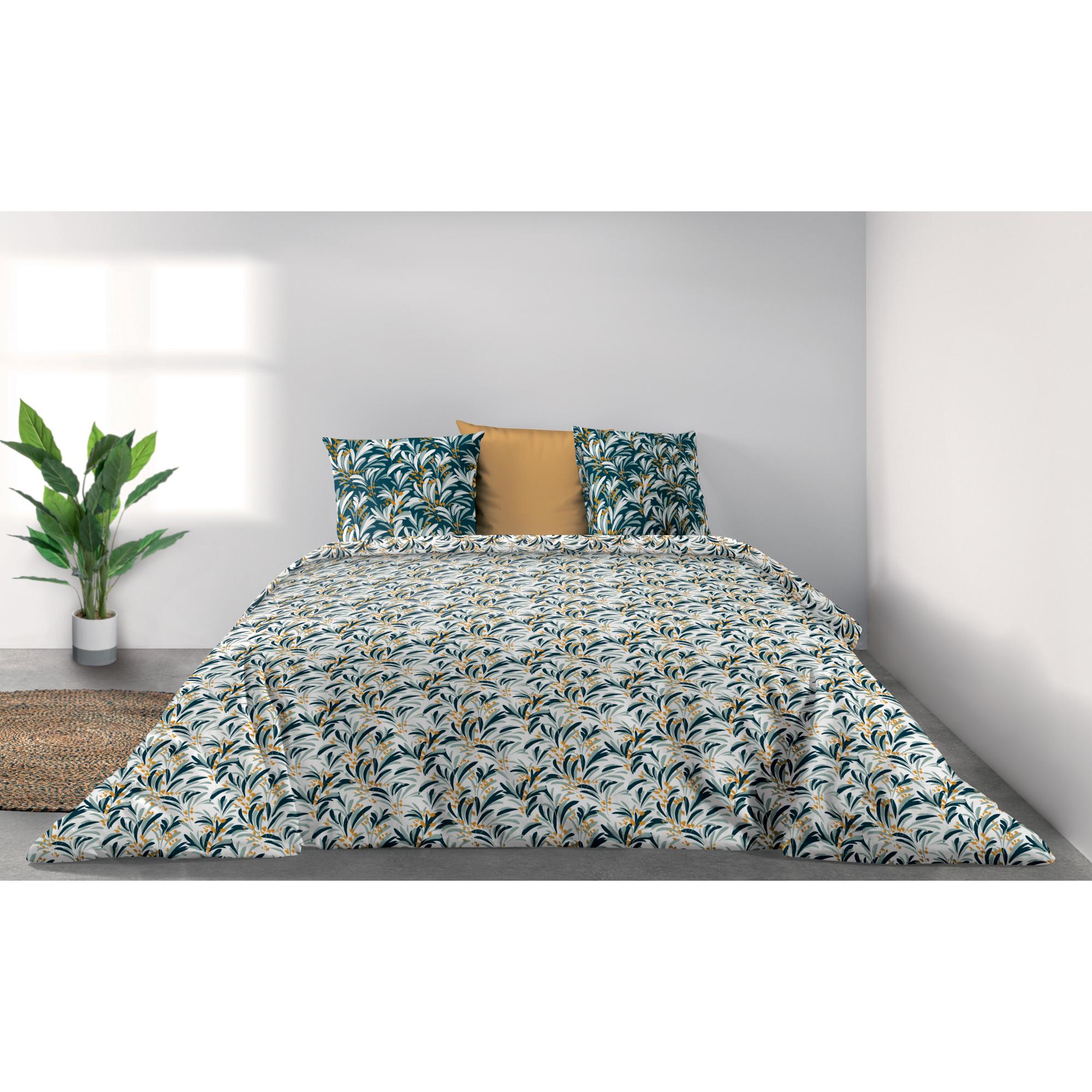 Parure de lit Bio 2 personnes Lola avec housse de couette et taies d'oreiller Imprimé 240 x 220